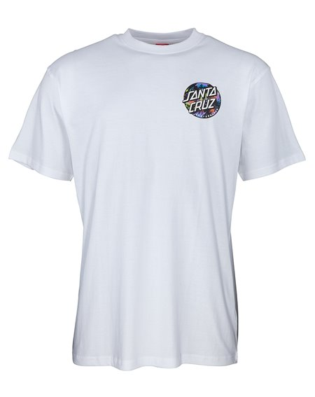 Santa Cruz Dot Splatter T-Shirt Uomo White