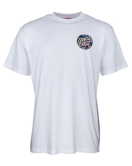 Santa Cruz Men's T-Shirt Dot Splatter White