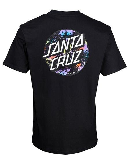 Santa Cruz Dot Splatter Camiseta para Homem Black