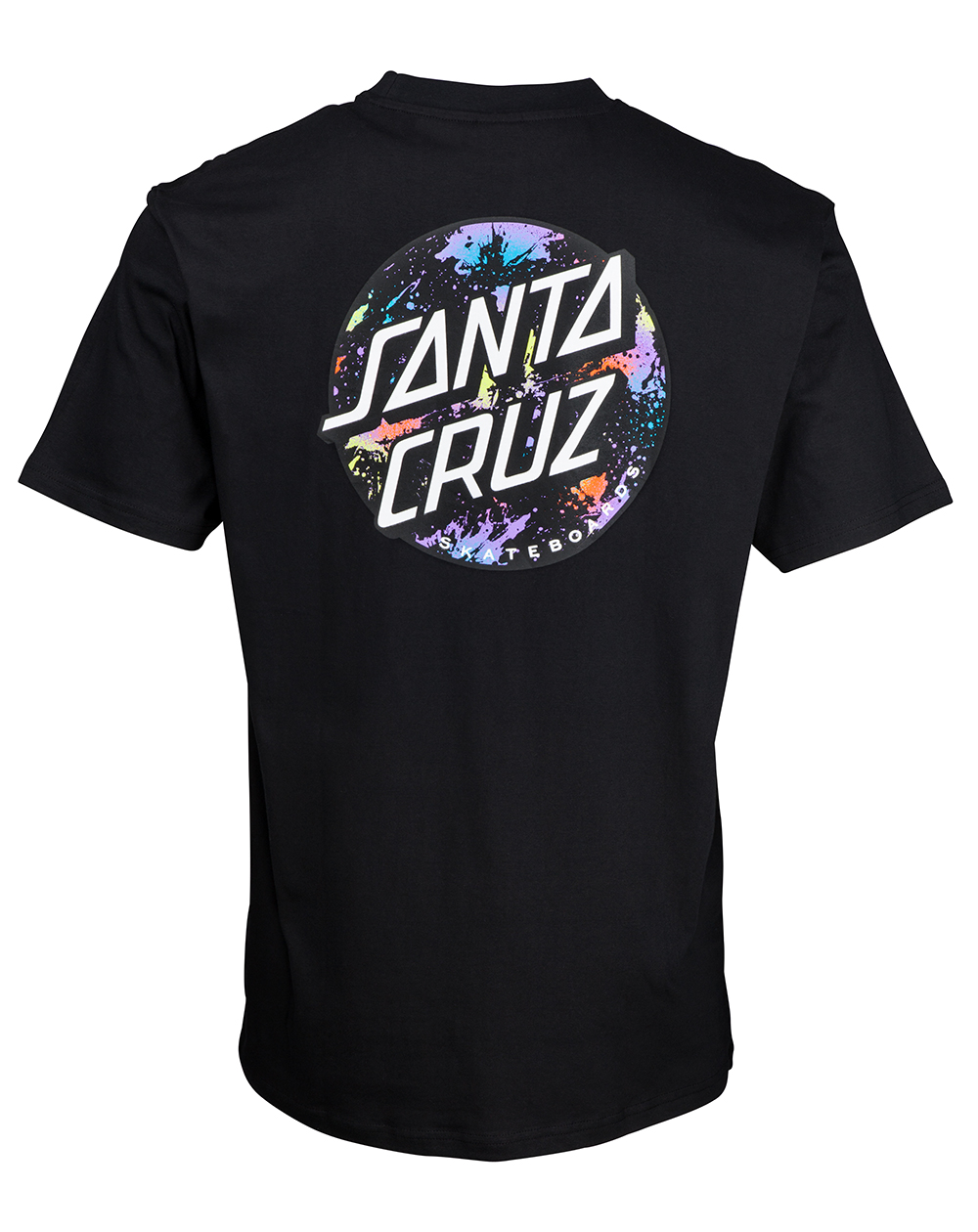 Santa Cruz Dot Splatter T-Shirt Homme Black