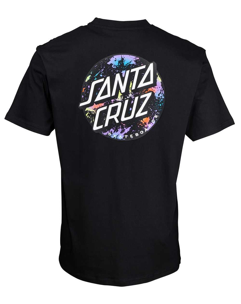 Santa Cruz Dot Splatter T-Shirt Uomo Black
