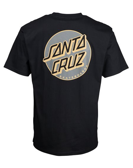 Santa Cruz Missing Dot T-Shirt Uomo Black