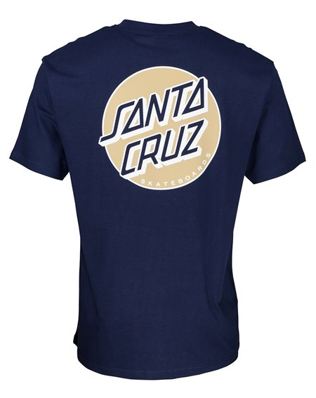 Santa Cruz Men's T-Shirt Missing Dot Dark Navy