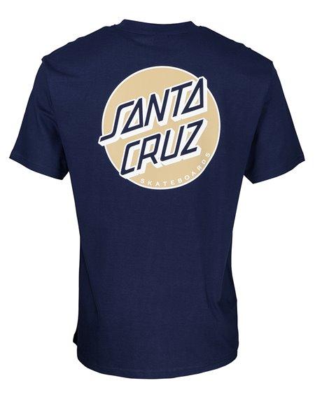 Santa Cruz Missing Dot Camiseta para Homem Dark Navy