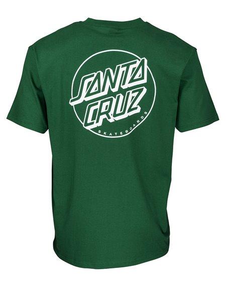 Santa Cruz Opus Dot Stripe T-Shirt Uomo Evergreen
