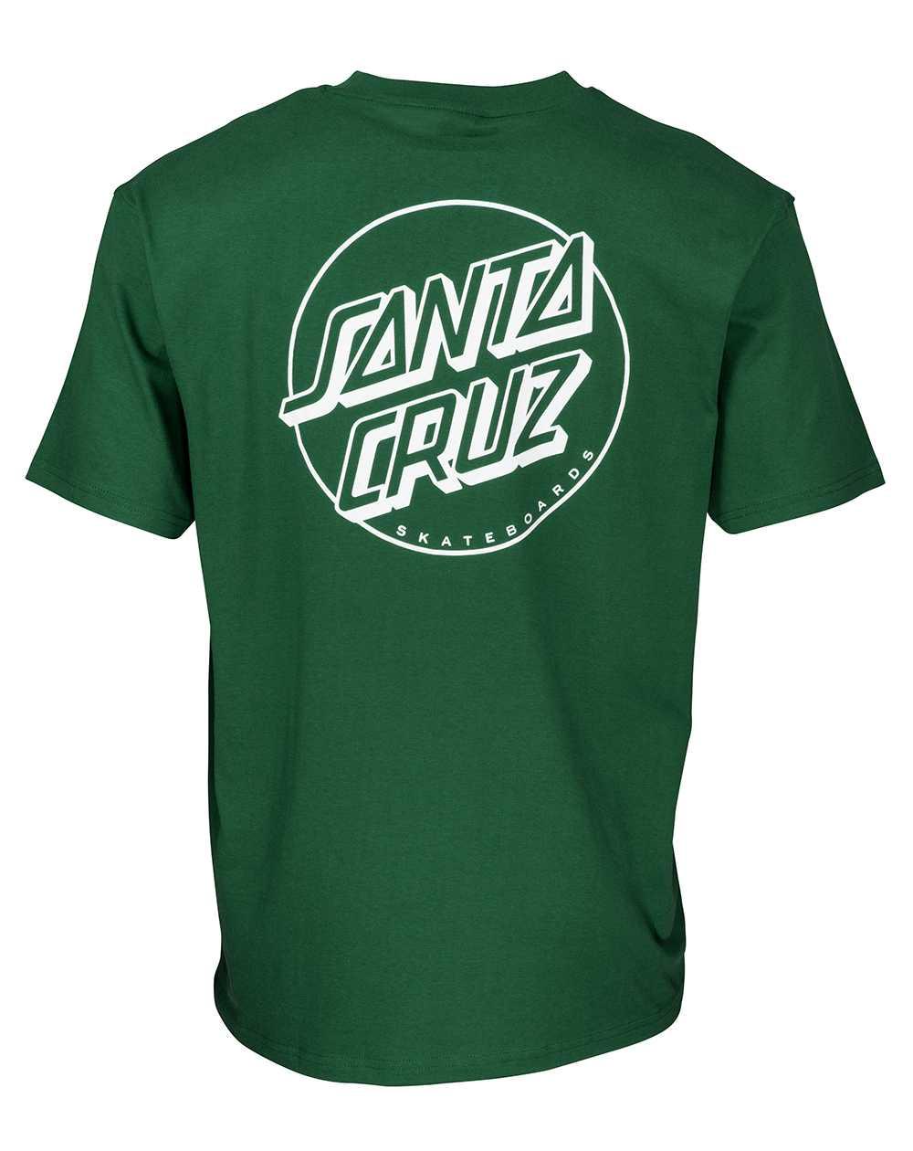 Santa Cruz Herren T-Shirt Opus Dot Stripe Evergreen