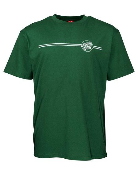 Santa Cruz Men's T-Shirt Opus Dot Stripe Evergreen