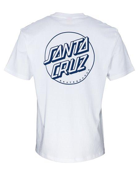 Santa Cruz Opus Dot Stripe Camiseta para Homem White/Navy