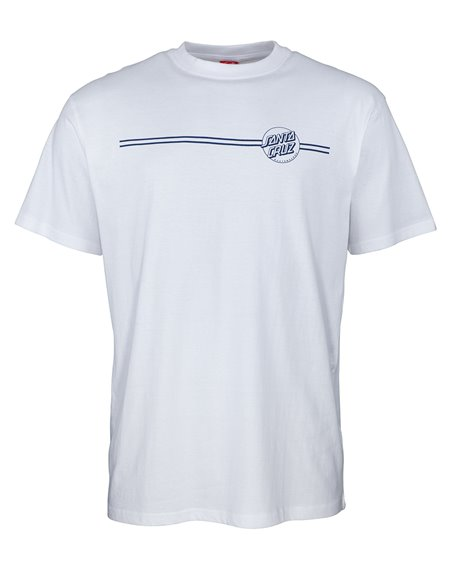 Santa Cruz Men's T-Shirt Opus Dot Stripe White/Navy
