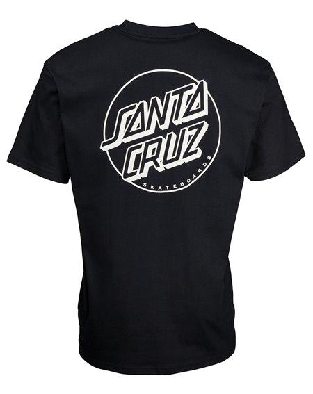 Santa Cruz Opus Dot Stripe T-Shirt Homme Black/Grey