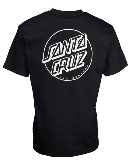 Santa Cruz Opus Dot Stripe T-Shirt Uomo Black/Grey