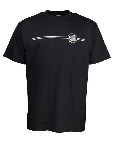 Santa Cruz Opus Dot Stripe T-Shirt Uomo Black/Grey