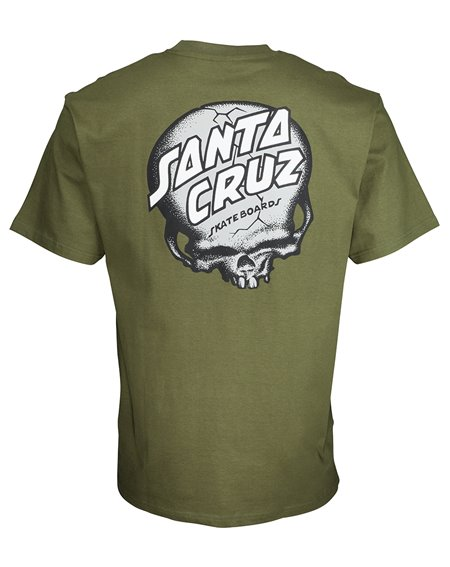 Santa Cruz Men's T-Shirt O'Brien Skull Army Green