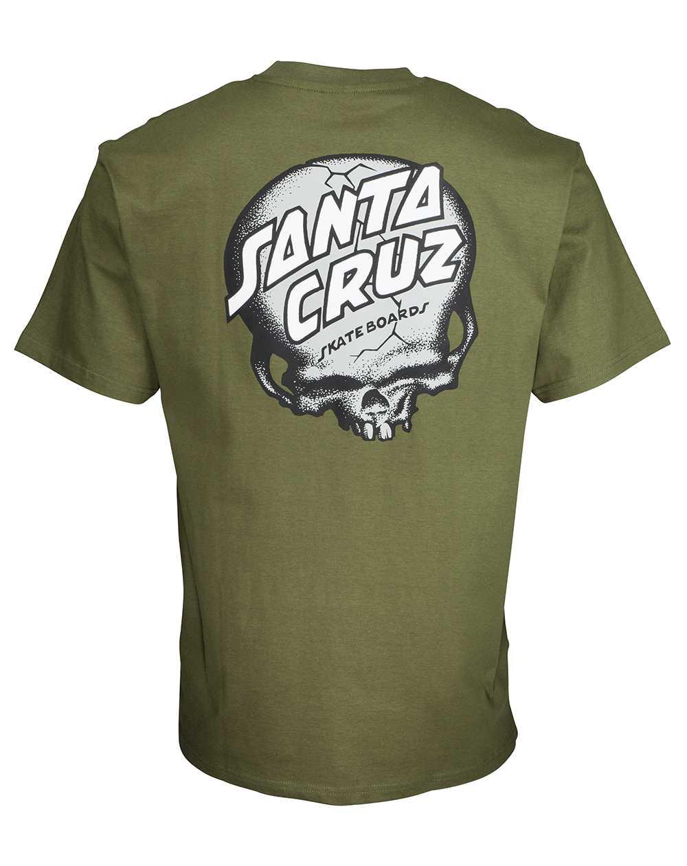 Santa Cruz Men's T-Shirt O'Brien Skull Army Green