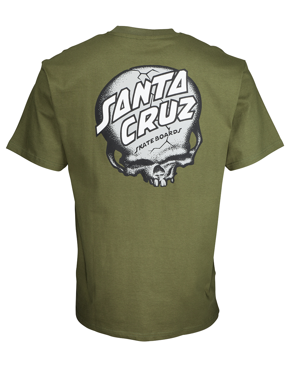 Santa Cruz O'Brien Skull T-Shirt Homme Army Green