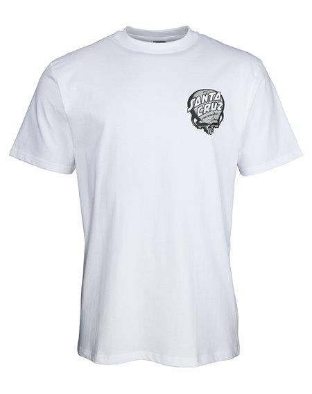 Santa Cruz O'Brien Skull Camiseta para Homem White