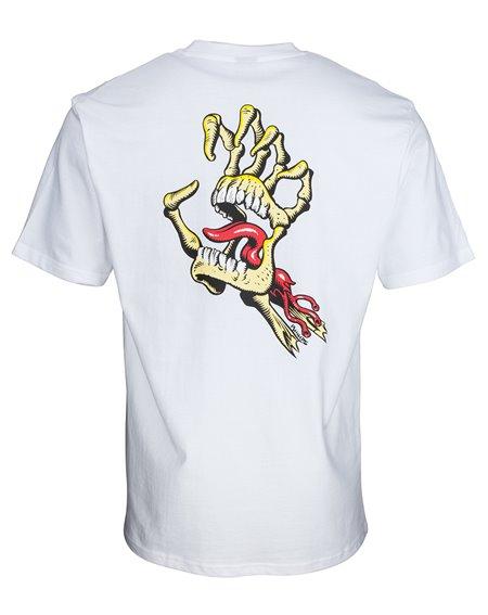 Santa Cruz Vintage Bone Hand Camiseta para Homem White
