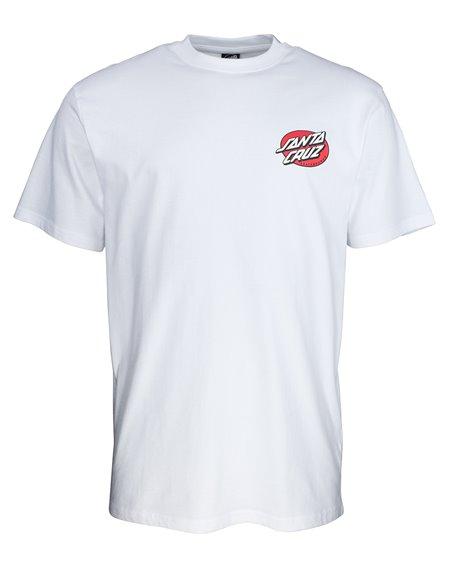 Santa Cruz Men's T-Shirt Vintage Bone Hand White