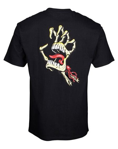 Santa Cruz Vintage Bone Hand Camiseta para Homem Black