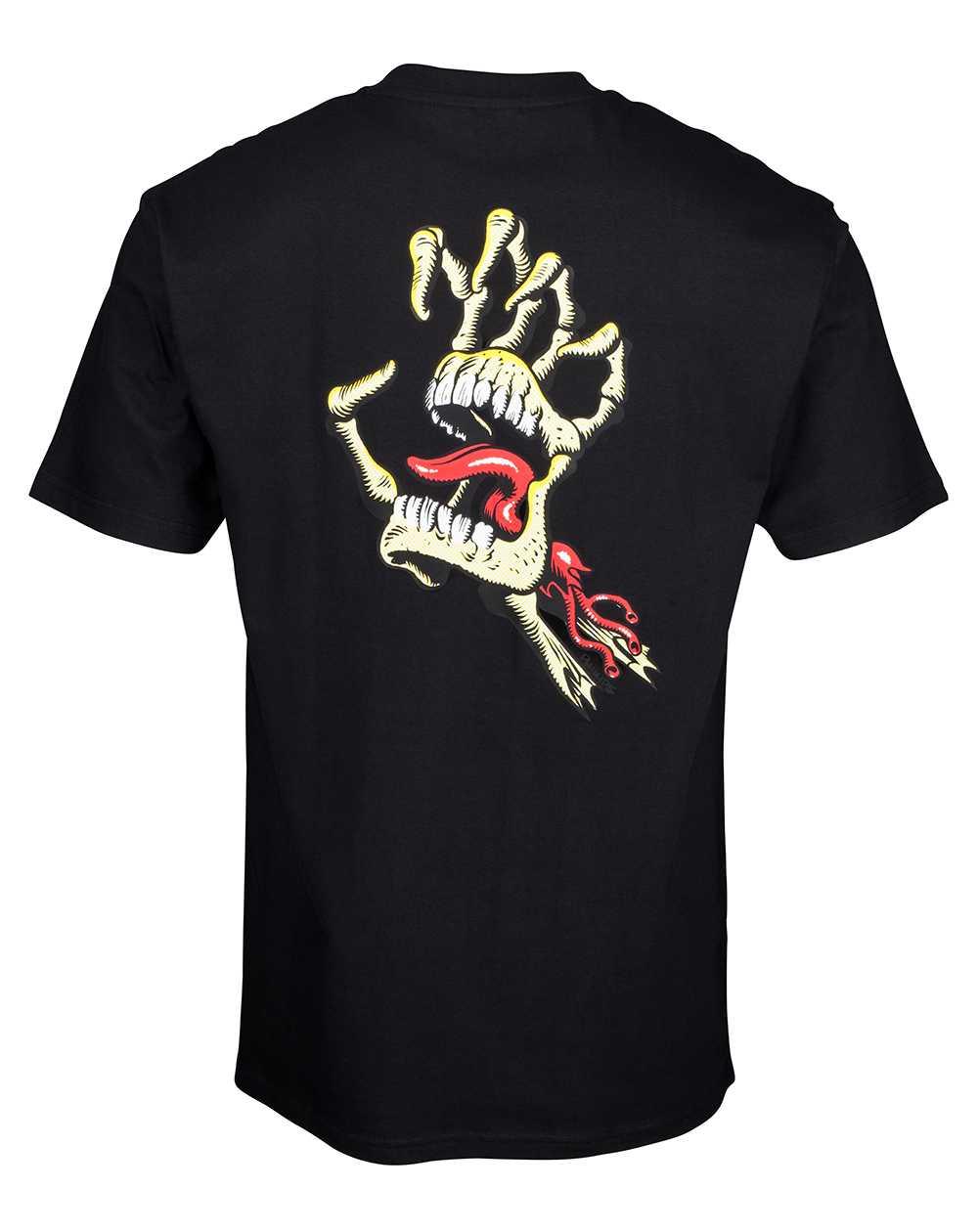 Santa Cruz Men's T-Shirt Vintage Bone Hand Black