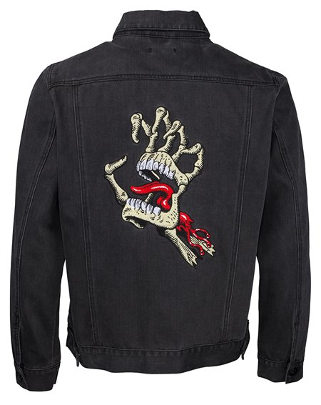 Santa Cruz Men's Jacket Vintage Bone Hand Denim Black