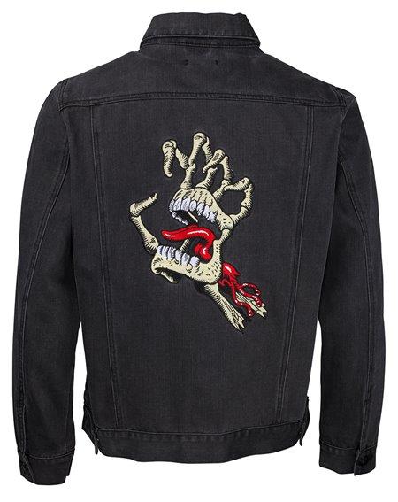 Santa Cruz Men's Jacket Vintage Bone Hand Denim Black