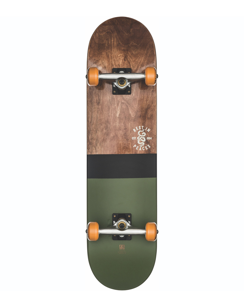 "Globe Skateboard G2 Half Dip 2 8.00"" Dark Maple/Hunter Green"