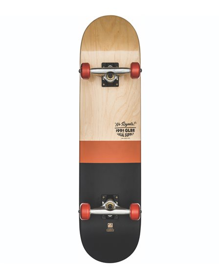 "Globe Skateboard Complète G2 Half Dip 2 7.75"" Natural/Rust"