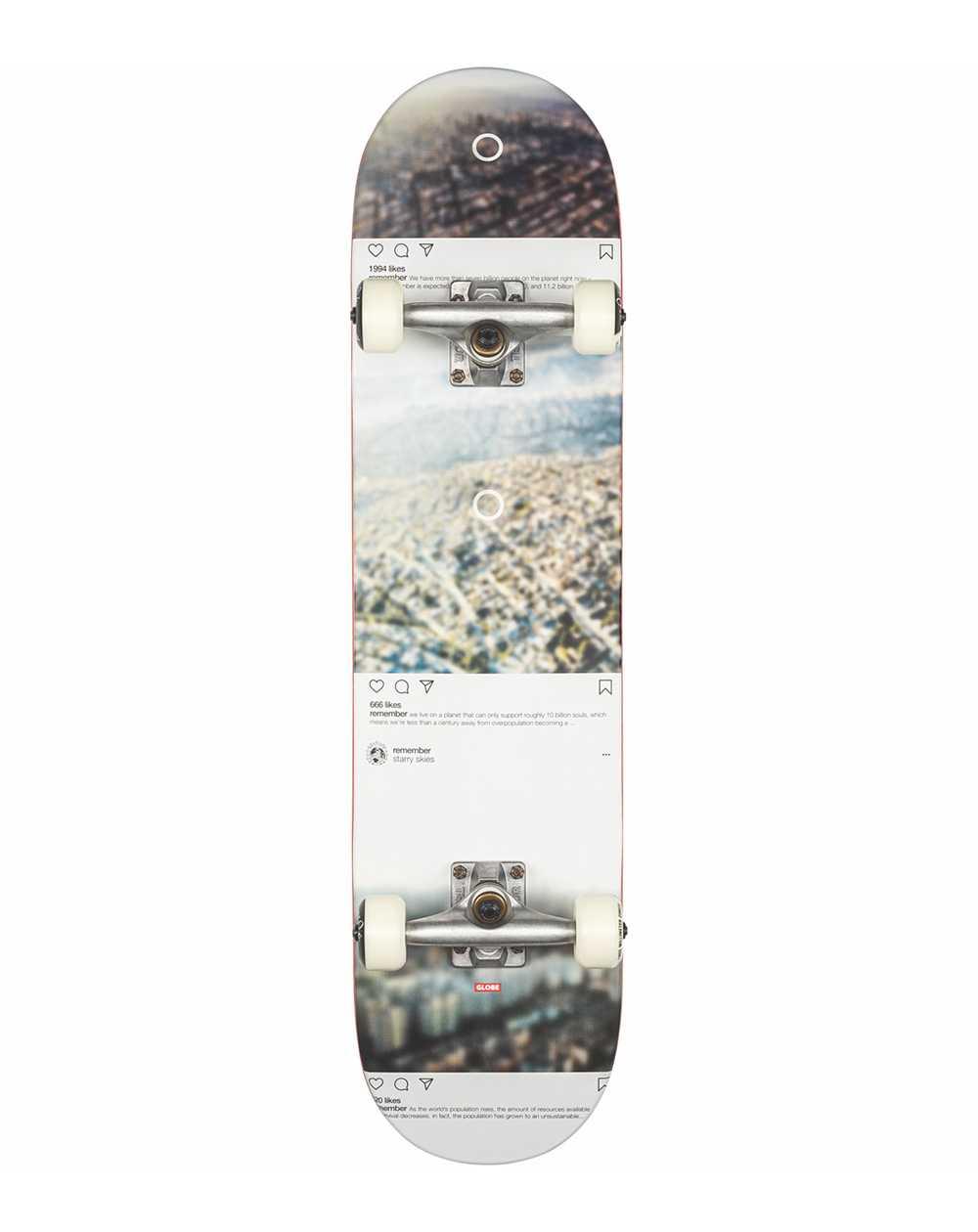 "Globe G2 Sprawl 7.75"" Complete Skateboard Metropolypse"