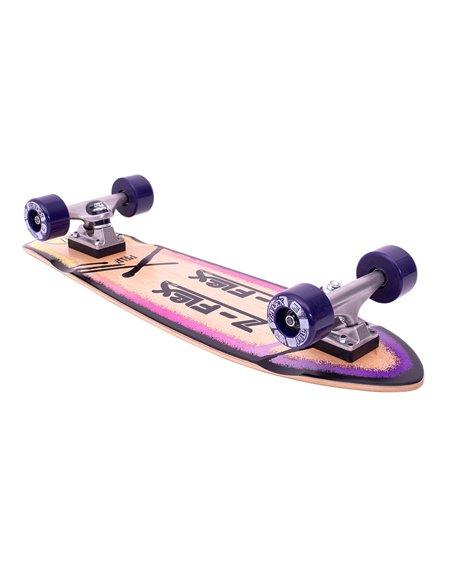 """Z-Flex Skate Cruiser P.O.P. 27"""" Purple Fade"""