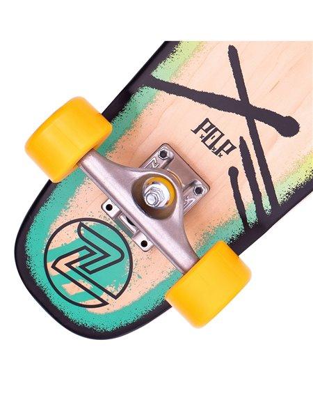 "Z-Flex P.O.P. 27"" Skateboard Cruiser Rasta"