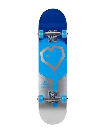 """Blueprint Spray Heart V2 8.25"""" Komplett-Skateboard Blue/Silver"""