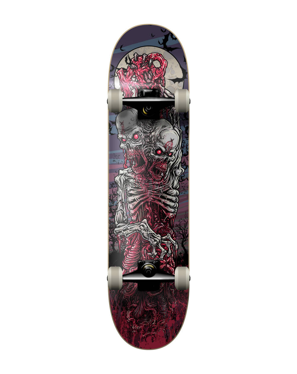 "KFD Skateboard Young Gunz 7.75"" Two Headed Zombie"