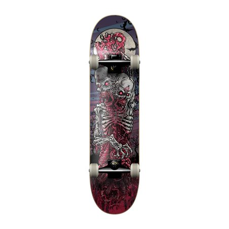 """KFD Young Gunz 7.75"""" Complete Skateboard Two Headed Zombie"""