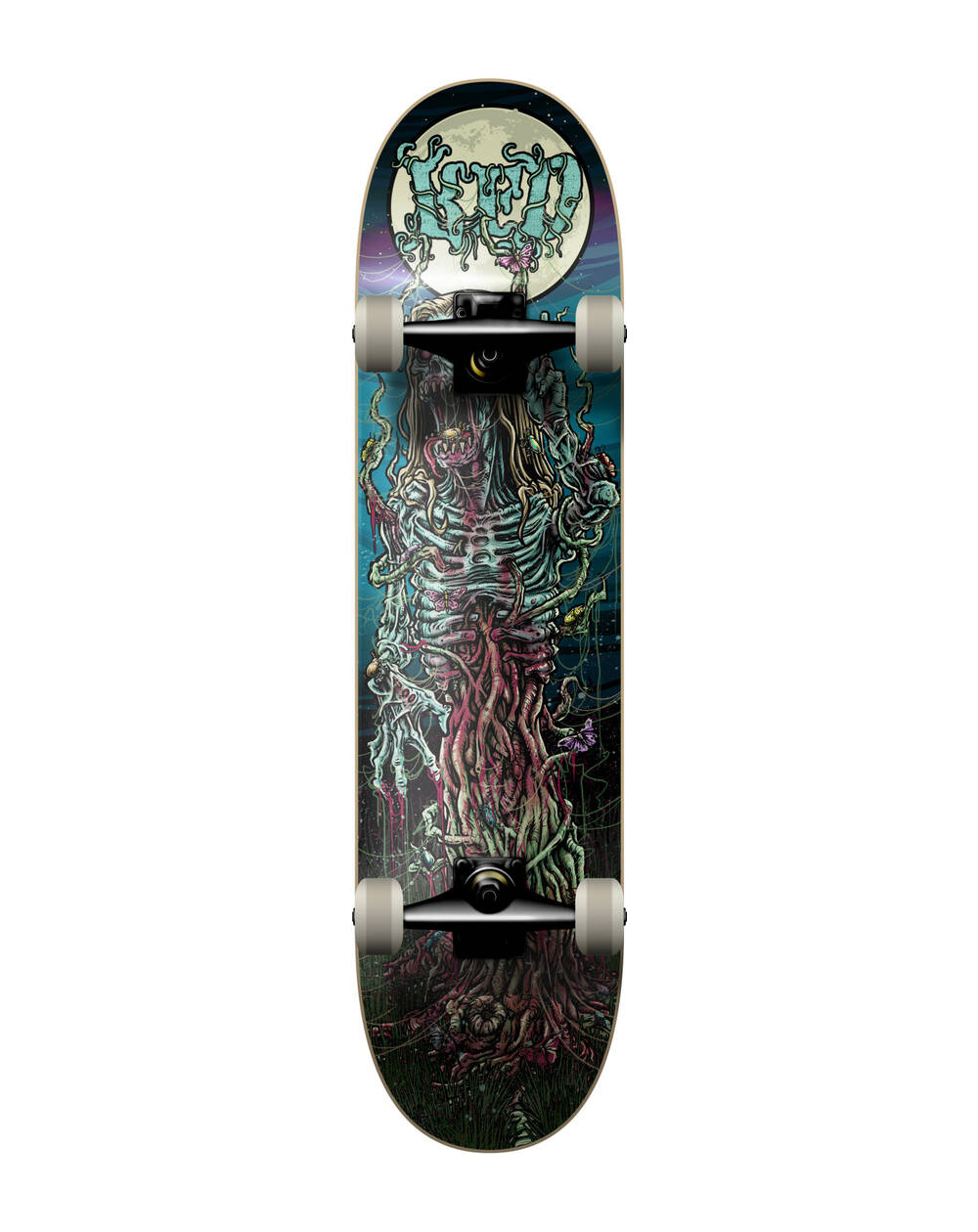 "KFD Young Gunz 7.825"" Complete Skateboard Hippy Zombie"