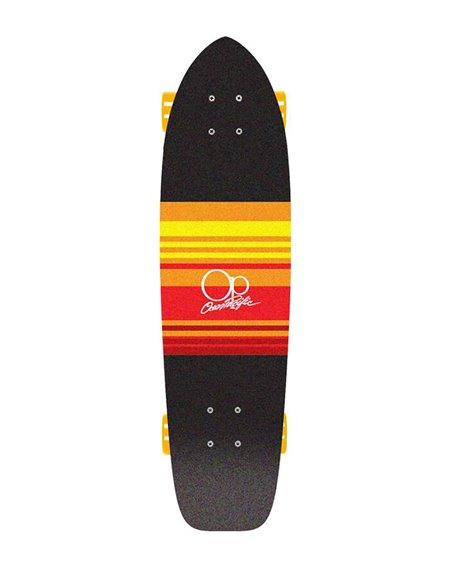 "Ocean Pacific Skateboard Cruiser Swell 31"" Black/Orange"