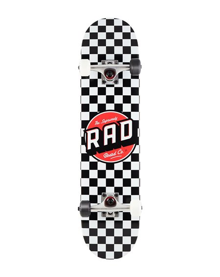 "Rad Dude Crew 7.75"" Complete Skateboard Checkers"