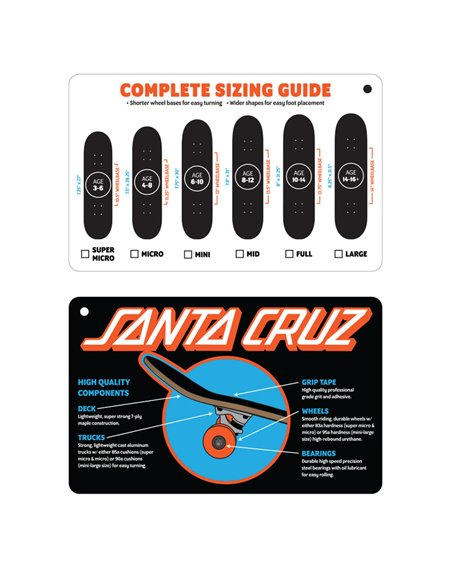 "Santa Cruz Skate Montado Screaming Hand Mini 7.75"" Yellow"