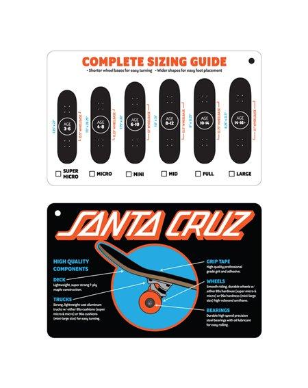 """Santa Cruz Skateboard Classic Dot Full 8.00"""" Black"""