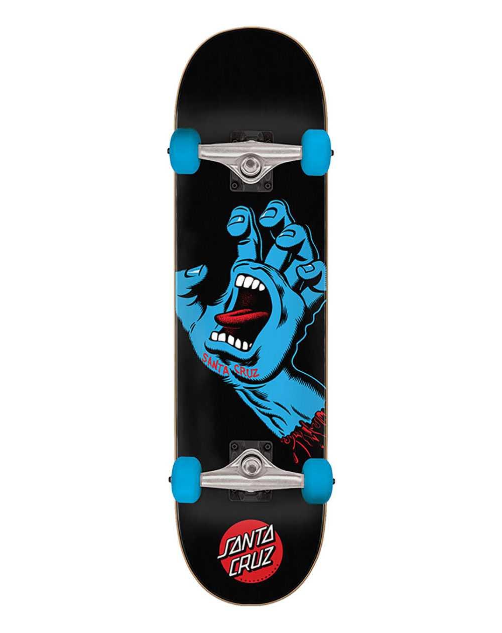 "Santa Cruz Screaming Hand Full 8.00"" Complete Skateboard Black"