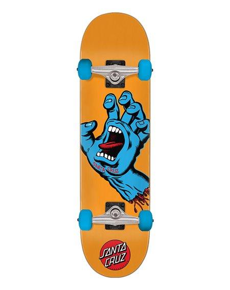 "Santa Cruz Skate Montado Screaming Hand Mid 7.80"" Orange"