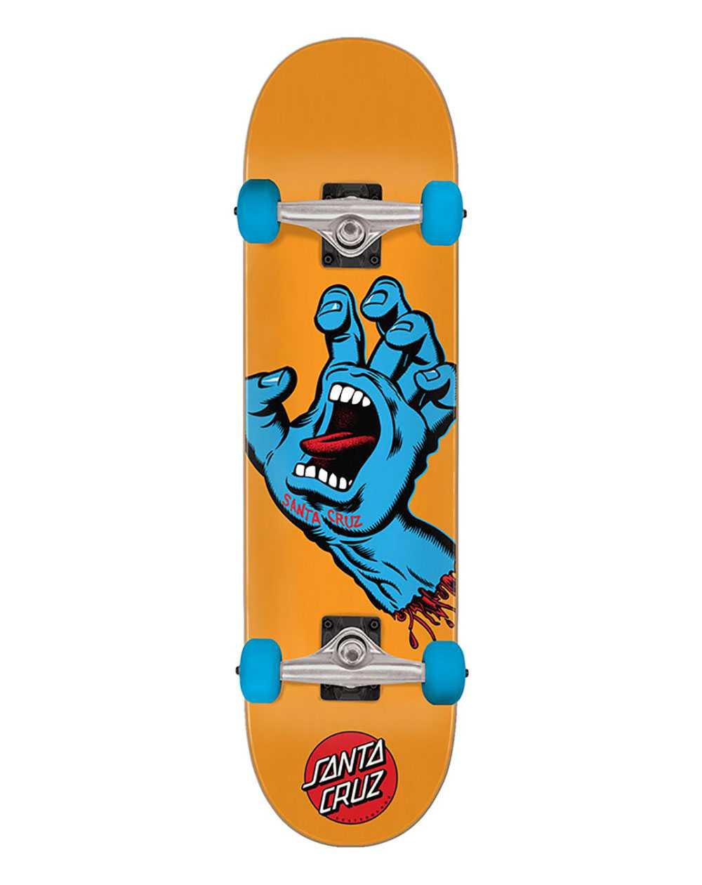 "Santa Cruz Screaming Hand Mid 7.80"" Complete Skateboard Orange"