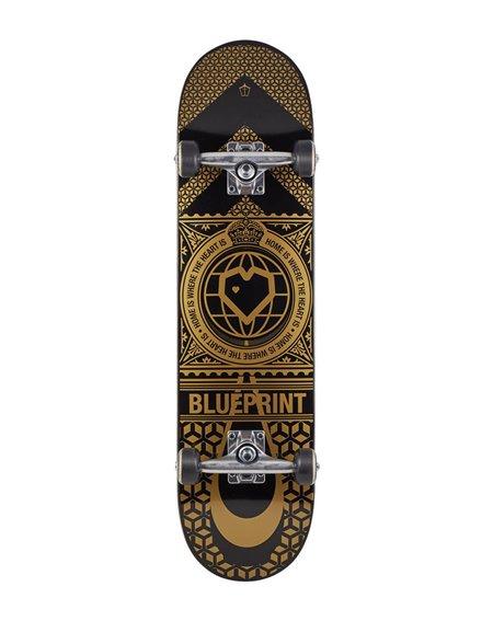 """Blueprint Home Heart V2 8.00"""" Komplett-Skateboard Black/Gold"""