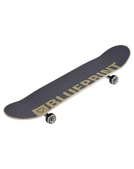 "Blueprint Home Heart V2 8.00"" Complete Skateboard Black/Gold"