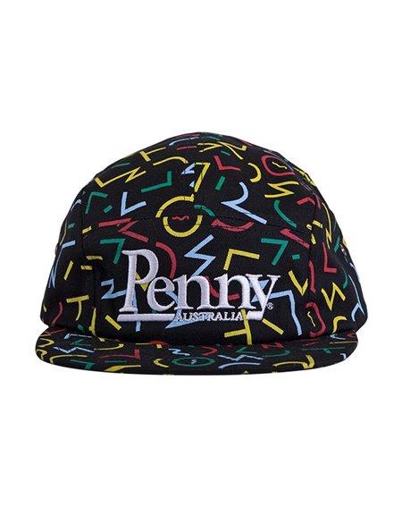 Penny Men's 5 Panels Baseball Cap Bel Air Black