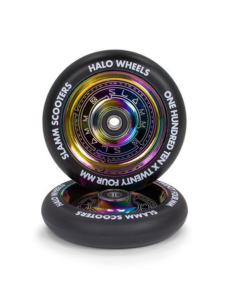Slamm Scooters Neochrome 110mm Halo Deep Dish Scooter Wheel