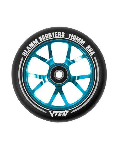 Slamm Scooters V-Ten II 110mm Scooter Wheel Blue