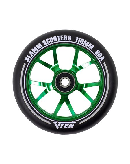 Slamm Scooters V-Ten II 110mm Scooter Wheel Green