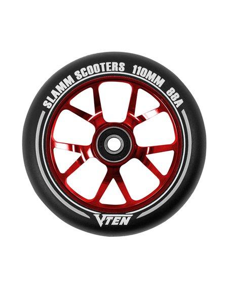 Slamm Scooters V-Ten II 110mm Scooter Rad Red