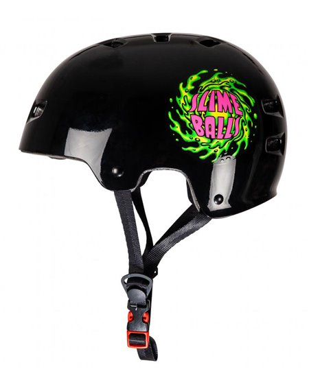 Bullet Safety Gear Bullet x Slime Balls Slime Logo Helme für Skateboarding Black